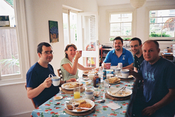 Next morning at breakfast chez Hibbett
