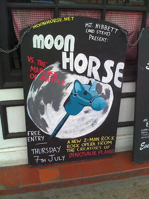 The Moon Horse poster hand drawn in CHALK!